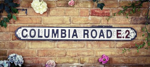 Columbia Road E2 Vintage Road Sign / Street Sign